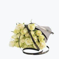 20 White Roses Gift Wrapped